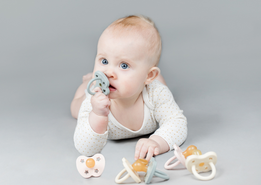 Colourful pacifiers for your baby